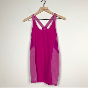 Athleta | Pink Racer Back Work out Tank Top SZ L